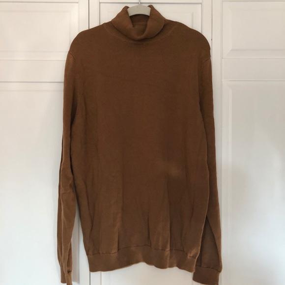 New Look Sweaters Mens Brown Turtleneck Sweater Poshmark